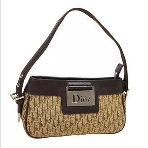 💯AUTH DIOR Mini Street Chic Trotter Bag Brown New